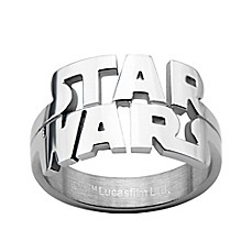 image of Star Wars™ Stainless Steel Cut-Out Logo Men's Ring
