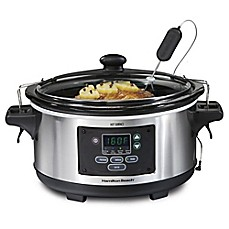 image of Hamilton Beach® Set & Forget® 6 qt. Programmable Slow Cooker