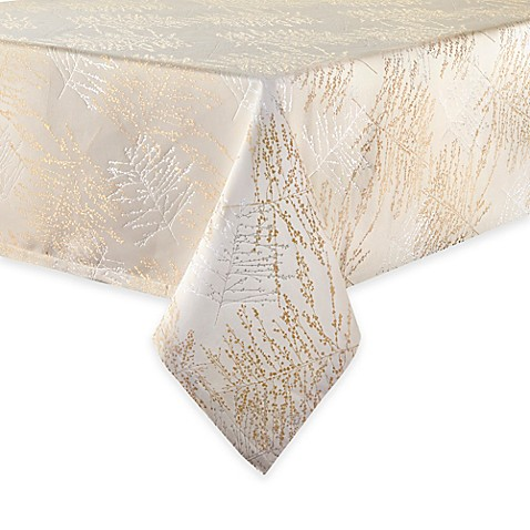 Elegant Waterfordu0026reg; Linens Timber Tablecloth In Gold/Silver