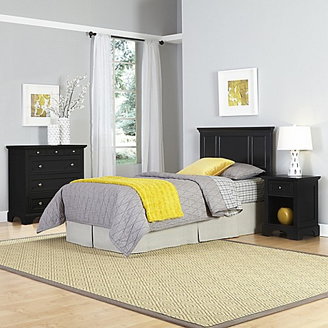 Home Styles Bedford 3 Piece Twin Headboard Nightstand And