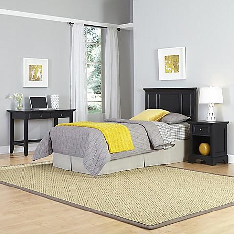 Home styles bedford 3 piece twin headboard nightstand and for Headboard dresser and nightstand set