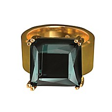 image of Rebel Waterford® Gold Created Emerald Lulu Ring
