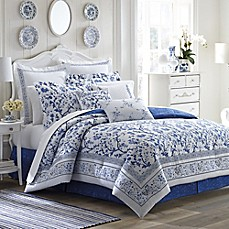 image of Laura Ashley® Charlotte Comforter Set in China Blue
