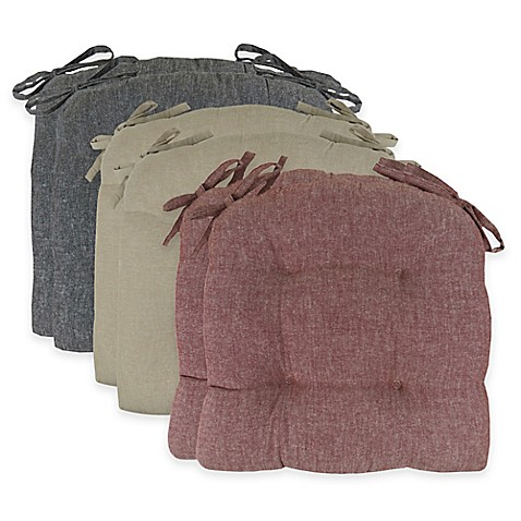 Park B Smith 174 Chambray 16 Inch Chair Pads Set Of 2