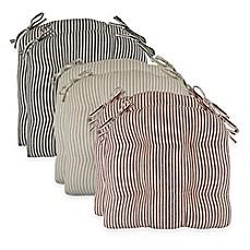 image of park b smith farmhouse stripe 16inch chair pads set - Rocking Chair Cushion Sets