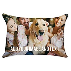 image of 12-Inch x 16-Inch Rectangle Dual Sided Photo Burlap Throw Pillow
