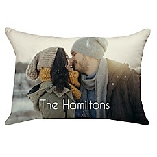 image of 14-Inch x 20-Inch Rectangle Dual Sided Photo Poplin Throw Pillow