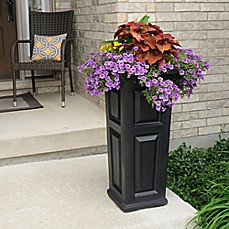 outdoor planters plant stands metal and wooden plant stands bed bath beyond. Black Bedroom Furniture Sets. Home Design Ideas