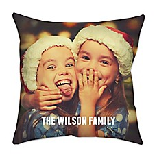 image of Square Dual Sided Photo Poplin Throw Pillow