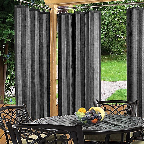 Easy Glide Indoor Outdoor Ring Top Window Curtain Panel In