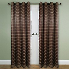 image of Versailles Home Natural Sustainable Bamboo Grommet Window Curtain Curtain Panel and Valance