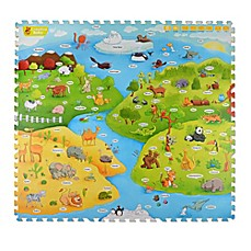 image of Creative Baby My Animal World 4-Piece i-Mat™