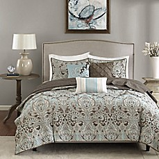 image of Madison Park Geneva 6-Piece Coverlet Set in Brown
