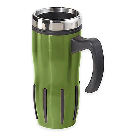 Buy oggi lustre 16 oz multi grip stainless steel travel mug in green from b - Lustre multi ampoules ...