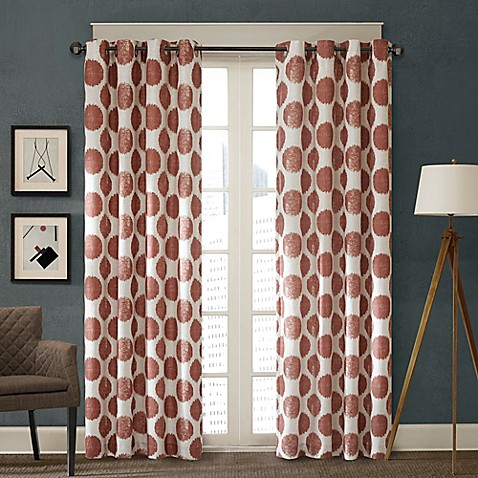 Buy Madison Park Maru 84 Inch Window Curtain Panel In Red