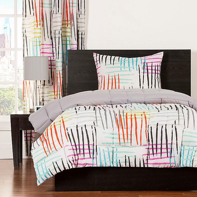 Crayola Stroke Of Genius Reversible Comforter Set Buybuy Baby