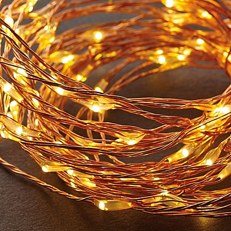 bed bath and beyond lighting. LED String Lights In Warm White/Copper Bed Bath And Beyond Lighting R