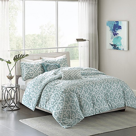 Madison Park Pure Elena 5 Piece Reversible Comforter Set