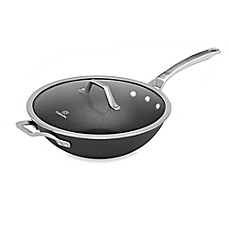 image of Calphalon® Signature™ Nonstick 12-Inch Covered Flat Bottom Wok
