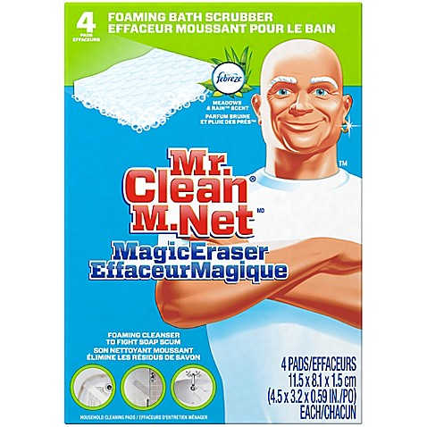 Mr. Cleanu0026reg; Magic Eraser 4 Count Bath Scrubber
