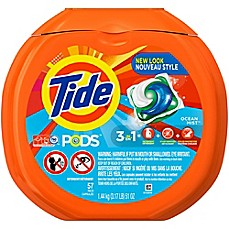 image of Tide® PODS 57-Count Laundry Detergent in Ocean Mist