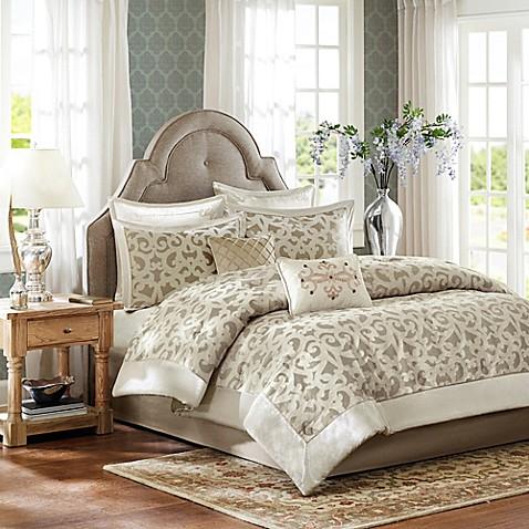 Madison Park Kingsley 8-Piece Comforter Set in Ivory