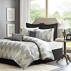 image of Madison Park Paxton 12-Piece Comforter Set in Grey