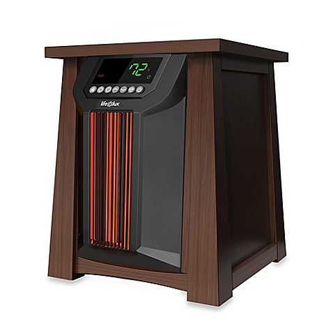 Lifelux Electric Infrared Oscillating Heater In Brown