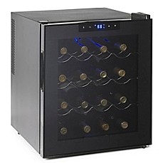 image of Wine Enthusiast® Silent 16-Bottle Single-Zone Wine Cooler in Black
