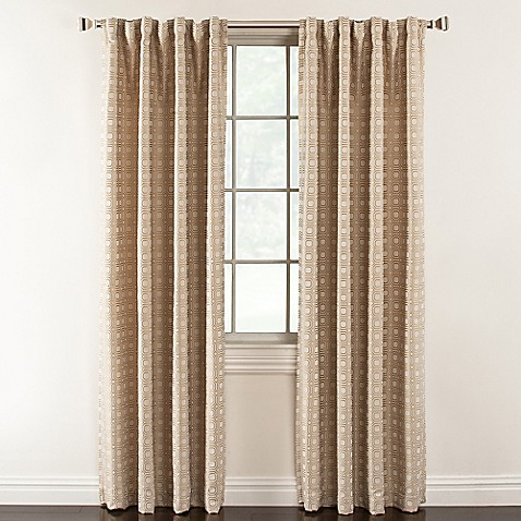 Buy Milo 84 Inch Rod Pocket Lined Window Curtain Panel In