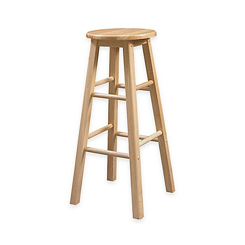 Buy Classic 29 Inch Wood Barstool With Round Seat In