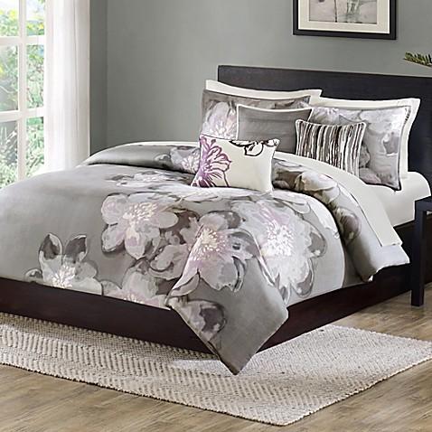 Madison Park Serena 7 Piece Comforter Set Bed Bath Amp Beyond