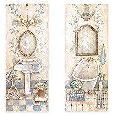 image of Antique Blue Bath Canvas Wall Art Collection