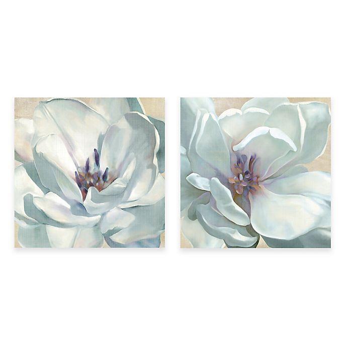 Courtside Market White Flower Canvas Wall Art Bed Bath Beyond