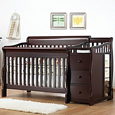 image of Sorelle Tuscany 4-in-1 Convertible Crib and Changer in Espresso