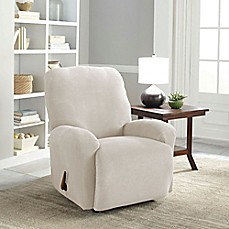 image of Perfect Fit® Easy Fit Recliner Slipcover & Chair u0026 Recliner Slipcovers Dining Room Chair Covers - Bed Bath ... islam-shia.org