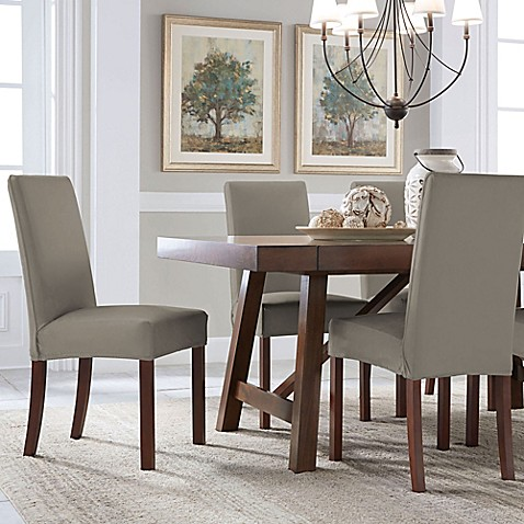 Perfect Fit® Reversible Parsons Chair Slipcover in ...