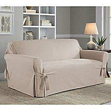 Image Of Perfect Fit Classic Relaxed Fit Loveseat Slipcover