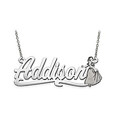 image of Disney® 14K Gold 18-Inch Chain Snow White Nameplate Pendant Necklace
