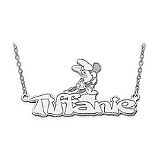image of Disney® 14K Gold 18-Inch Minnie Mouse Nameplate Necklace