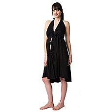 image of Pretty Pushers® Plus Size Labor Gown in Black