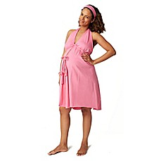 image of Pretty Pushers® Plus Size Labor Gown in Hot Pink