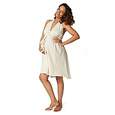 image of Pretty Pushers® Labor Gown in Cream
