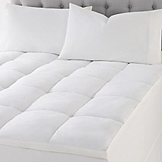 image of Wamsutta® Quilted Top Featherbed Mattress Topper in White