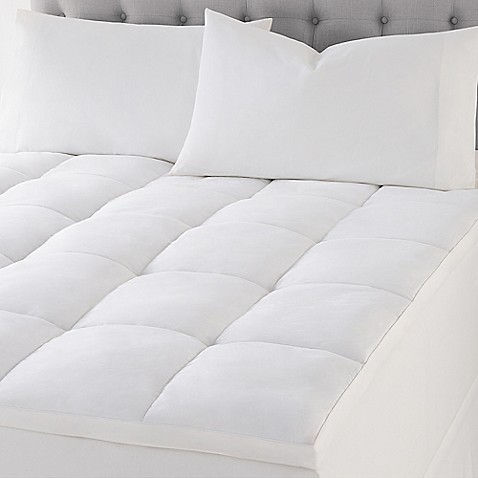 Wamsutta Reg Quilted Top Featherbed Mattress Topper In White