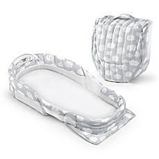 image of Baby Delight® Snuggle Nest® Surround  Portable Infant Sleeper in Silver Clouds