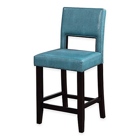 Buy Vega 24 Inch Counter Stool In Aegean Blue From Bed