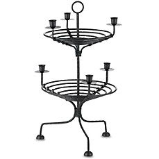 image of International Silver 2-Tier Metal Candleholder