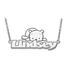 image of Disney® 14K Gold 18-Inch Chain Winnie-the-Pooh Nameplate Necklace