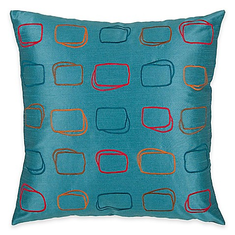 Rizzy Home Embroidered Pattern Square Throw Pillow - Bed Bath & Beyond